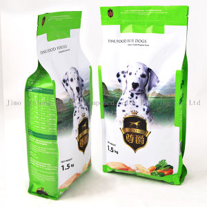 Quad Sealed Dog Food Packaging Bag with Zipper pictures & photos