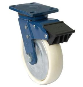Industrial Swivel Nylon Caster Wheel with Dual Brake (White) pictures & photos