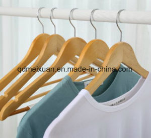 Wooden Hanger Antiskid Solid Wood Selected Primary Non-Trace Trousers Clip (M-X3215) pictures & photos