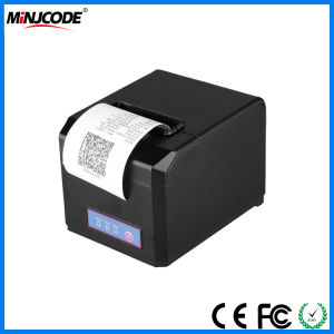 POS Desktop Receipt Printer, 80mm Thermal Receipt Printer, USB/RS232/PS2/LAN/Bluetooth/WiFi Connectivities Optional, Mj8220