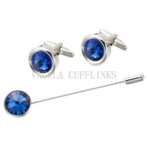VAGULA Saphire Crystal Brooch and Cufflink Sets 722 pictures & photos
