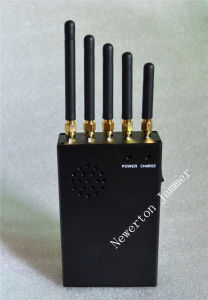 5 Bands Handheld Mobile Phone Signal Isolator GPS WiFi Jammer