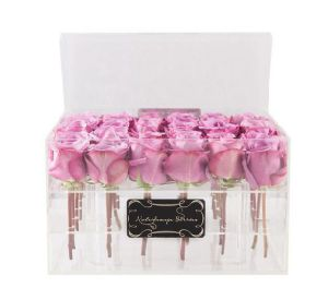 High Quality Clear/White/Black Acrylic Rose Box Acrylic Square/ Round Flower Box for Display pictures & photos
