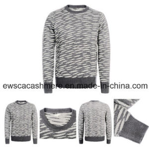 Pure Cashmere Knitted Sweater with Tiger Stripes