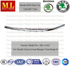 Right Chromed Strip, Front Bumper Trim for Skoda Octavia From Year 2004 (OEM Parts No.: 1ZD 807 718A) pictures & photos
