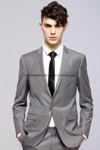 Tailor Made Classic Smooth Feel Vest Pant Gray Men Suit pictures & photos