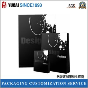 2017 Hot Sale Black Paper Shopping Bag with Silver Foil pictures & photos