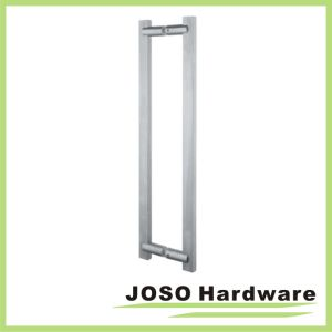 Brushed Stainless Ladder Style Square Tube Back-to-Back Pull Handle pictures & photos
