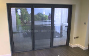 Aluminium Soundproof Tri Fold Doors/Glass Folding Door pictures & photos