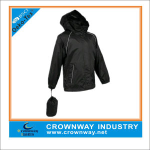 Mens Fold Lightweight Breathable Pack Away Waterproof Jacket pictures & photos