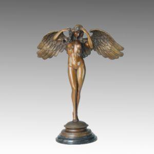 Mythology Bronze Garden Sculpture Descending Night Deco Brass Statue TPE 145