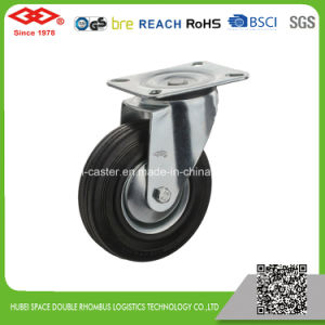 Industrial Swivel Plate Black Rubber Caster (P102-11D080X25S) pictures & photos