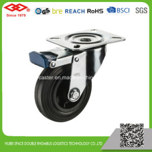 80mm Swivel Bolt Hole Black Rubber Wheel (G103-31D080X25) pictures & photos