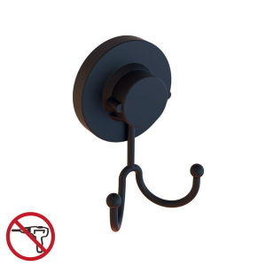 Powder Coating Black Suction Double Clothes Hook