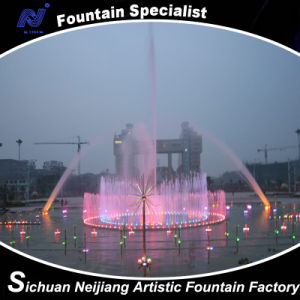 Program Control Circular Music Dancing Fountain Colorful Lighting