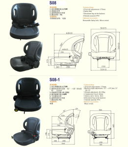 Full Adjustment Seat with Suspension (S08) pictures & photos