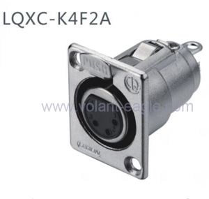 Audio Connectors 4-Pin Female XLR Chassis with RoHS pictures & photos