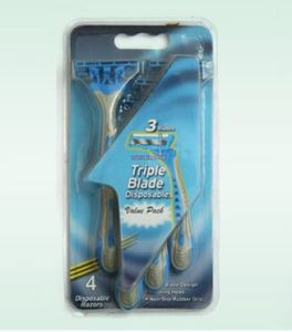 Triple Blade Disposable Razor (KD-3008L) pictures & photos