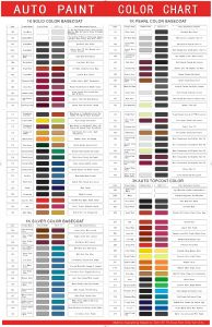 Auto Paint Colors >> Free Auto Paint Color Chart For High Quality China Paint