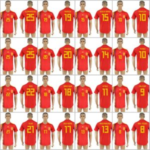 newest collection 3c0ee a1ccb 2018 Fifa World Cup Russia Football Spain National Soccer Jerseys