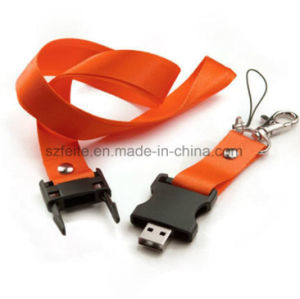 Business Gift Colorful Lanyard USB Flash Memory Drive Stick