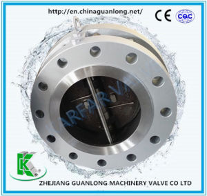 Flange End Dual Plate Non Slam Butterfly Swing Check Valve