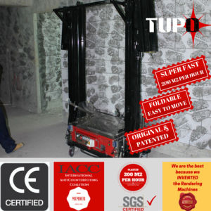 Tupo Brand Mortar Super Fast Wall Rendering Machine for Angola pictures & photos