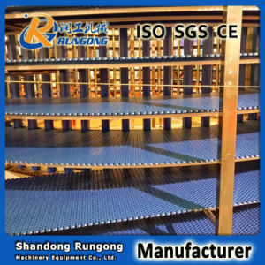 Food Cooling Spiral Conveyor / Modular Belt Screw Conveyor System Spiral Cooling Conveyor pictures & photos