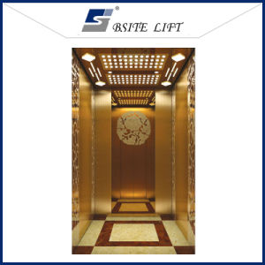 Passenger Elevator with Golden Etching Stainless Steel Finish