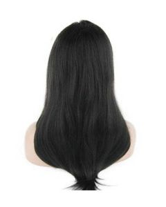 "8""-26"" Brazilian Virgin Hair Yaki Straight Lace Front Wig"