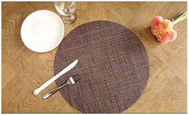 European Tasteless Green Insulated Mat Waterproof PVC Stripe Table Mat