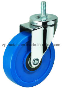 Medium-Sized Biaxial Blue Thread PVC Caster Wheels