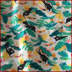 Toucan Bird Printed Colorful Microfiber Peach Skin pictures & photos
