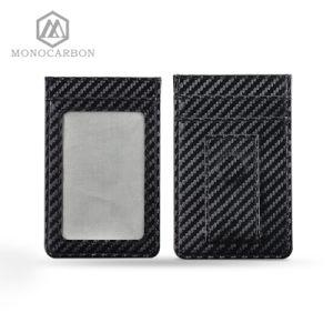 Carbon Fiber RFID Blocking Scan Card Holder Money Clip pictures & photos