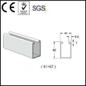 41*62mm Pre-Galvanized Steel Strut Channel