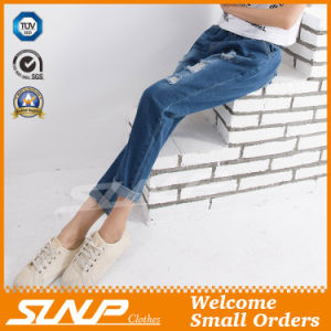Street Fashion Strench Stratch &Ripped Women Long Jean Pants Clothes