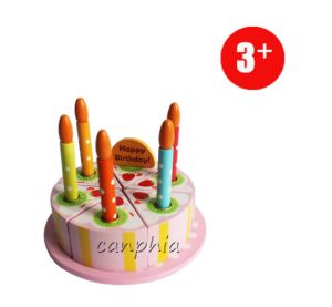 Wooden Toy Education Toy Pretend Play Cake Playset