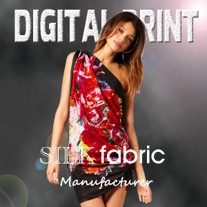 Digital Print Silk Fabric (X1014) pictures & photos