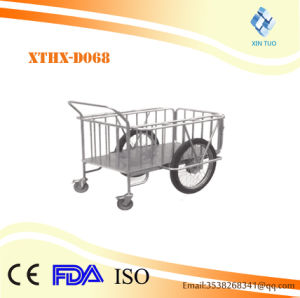Factory Direct Price Medical Equipment Stainless Steel Dirty Clothes Bag Trolley/Garbage pictures & photos
