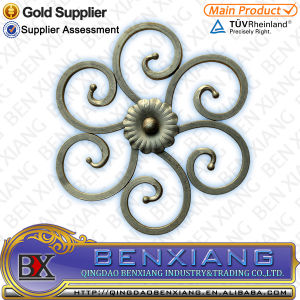 Casting Decoration Wrought Iron Rosette pictures & photos