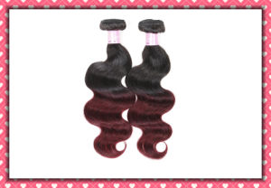 "Brazilian Hair Extension Body Wave 16"" Ombre Color pictures & photos"