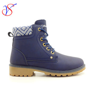 2017 New Style Injection Man Women Safety Working Work Boots Shoes for Job (SVWK-1609-016 BLUE)