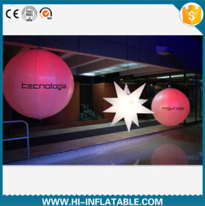 2015 Hot Selling Decorative LED Lighting Inflatable Ball with Logo, Inflatable Star for Event, Exhibition Decoration