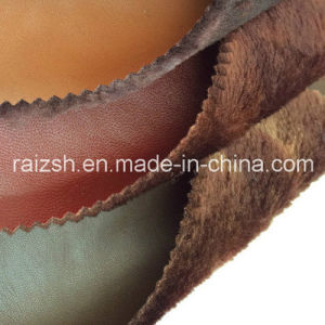 Long Pile PU Leather Bonded Fabric for Warmfashion Garment