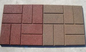 500mm Size Outdoor Recycled Rubber Floor Paver