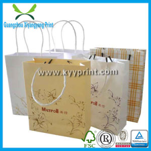 Custom Recycled Brown Kraft Paper Shopping Bag for Gift pictures & photos