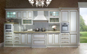 Modern Solid Wood Kitchen Furniture Design (zq-012)