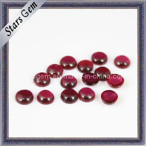 5# Ruby Round Shape Cabochon Gemstone pictures & photos