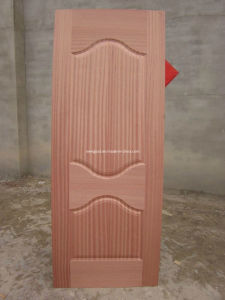 Natural Sapeli Veneered HDF Door Skin pictures & photos