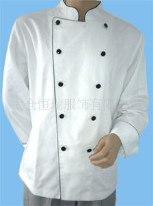 High Quality Double Row Trim Sleeve Chef Coat
